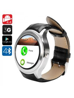 Witmood Smart Watch with Heart Rate Monitor GPS Round Wifi Smartwatch Phone Sim Card Bluetooth for Andriod and iPhone silver -- You can get additional details at the image link. Android Watch, Android 4, Best Smart Watches, Cheap Mobile, Wearable Device, Best Phone, Electronics Gadgets, Cool Things To Buy, Stuff To Buy