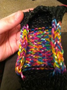Rainbow loom phone case if you want to learn how to do this search ( rainbow loom phone case ) on google