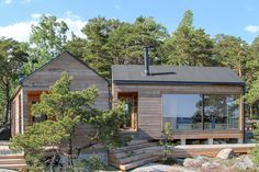 Sauna House, Tyni House, Tiny House Cabin, Riverside Cottage, Lakeside Cottage, Urban Living, Small Summer House, Scandinavian Cabin, Modern Log Cabins