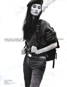 Ming Xi Hits the Desert for Vogue China September 2012 by Benny Horne.