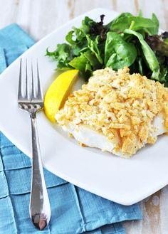 Salt & Vinegar Chip Crusted Fish - Yes em! by Jennifer Leal @savorthethyme