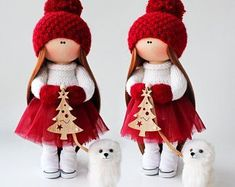 Christmas Doll Tilda Doll Christmas Gifts for girls Fabric Interior Nursery Decoration Baby Shower Gifts Presents for Mom Textile Doll – Presents for girls Birthday Presents For Mom, Presents For Girls, Birthday Gifts, Christmas Gifts For Girls, Handmade Christmas, Christmas Presents, Christmas Christmas, Fabric Dolls, Doll Patterns