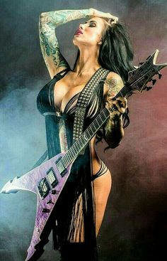 Tattoo History and What They Mean Today Fille Heavy Metal, Heavy Metal Girl, Heavy Metal Music, Heavy Metal Bands, Rocker Girl, Rocker Chick, Rock And Roll, Metallica, Ladies Of Metal