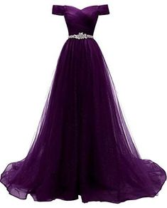 Women's A-line Tulle Prom Dresses Off The Shoulder Formal Evening Ball Gown Damen A-Linie Tüll Ballkleider Schulterfrei Formelles Abendballkleid Dresses Elegant, Cute Prom Dresses, Dance Dresses, Pretty Dresses, Beautiful Dresses, Bridesmaid Dresses, Wedding Dresses, Dresses Dresses, Amazon Prom Dresses