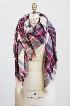 The only scarf y'all need this winter! We have sourced a great buy on these beautiful oversized Plaid Blanket Scarves. Perfect to fold, twist and wrap into countless styles, these oversized scarves ar
