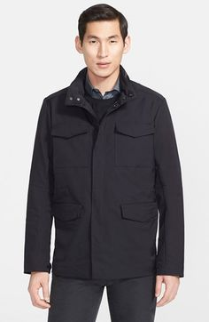 Men's Armani Collezioni Packable Field Jacket with Stowaway Hood