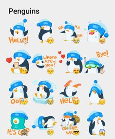 Penguins Stickers Set | Telegram Stickers