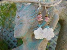 Hawaiian Pua Plumeria Flower Earrings by beadifulexpressions