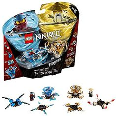 Amazon.com: LEGO NINJAGO Spinjitzu Nya & Wu 70663 Building Kit (227 Pieces): Toys & Games Lego Ninjago Spinners, Lego Ninjago Minifigures, Lego Friends, Katana, Legos, Ninjago Spinjitzu, Figurine Lego, Spinner Toy, Lego For Kids