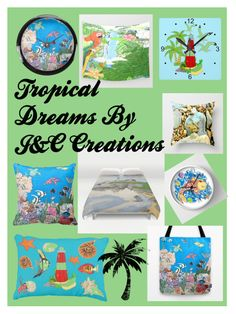 """Tropical Dreams"" by jnccreations ❤ liked on Polyvore featuring interior, interiors, interior design, hogar, home decor y interior decorating"