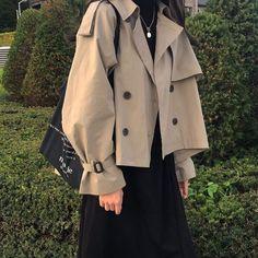 Korean Girl Fashion, Ulzzang Fashion, Muslim Fashion, Asian Fashion, Modest Fashion, Look Fashion, Hijab Fashion, Fashion Outfits, Korean Street Fashion