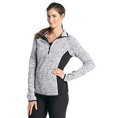 Exertek® Sweater Fleece Half Zip Pullover at www.bonton.com Half Zip Pullover, Athletic, Sweaters, Jackets, Women, Fashion, Down Jackets, Moda, Athlete