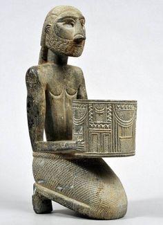 Jiroft carved chlorite vessel. Iran, c. 3000 B.C.