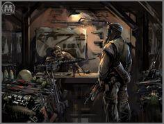 Metro 2033 Concept Art. Post Apocalyptic