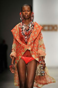 A model walks the runway during the KTZ: show at London Fashion Week Spring/Summer 2012 on September 21, 2011 in London, United Kingdom.