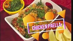 We're revisiting the traditional paella and use chicken and paprika instead of seafood and saffron, (which is expensive). A wonderful alternative. 3 Ingredient Orange Chicken Recipe, Cooker Recipes, Crockpot Recipes, Slow Cooker Chicken Dumplings, Garlic Chicken Thighs Recipe, Chicken Paella, Recipe Type, Low Sodium Chicken Broth, Yummy Chicken Recipes