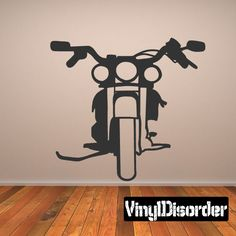 Motorcycle Wall Decal - Vinyl Decal - Car Decal - 016
