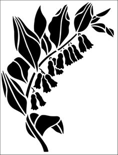 Solomon's Seal stencil from The Stencil Library GARDEN ROOM range. Buy stencils online. Stencil code GR21.
