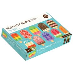 The sturdy pieces in this Petit Collage memory game were designed with little hands in mind. It features colorful illustrations of ice pops and the preschool-perfect task of finding matches: let the games begin! Memory Games For Kids, Holographic Foil, Collage, Pop Games, Try To Remember, Ice Pops, Christmas Gift Guide, Game Pieces, Matching Games