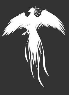 Výsledek obrázku pro phoenix silhouette harry potter