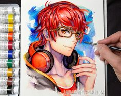 Mystic Messenger- Seven (Choi Saeyoung /Luciel)(707) #Otome #Game #Anime. Susanghan Messenger