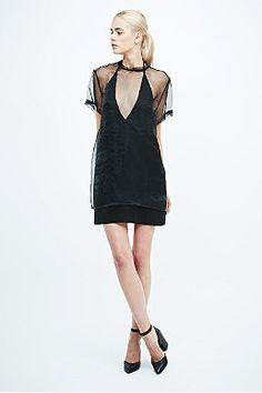 Solace Degas Sheer Dress in Black