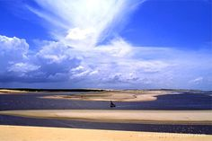 CEARÁ - Mundaú Beach view from the top of a dune.  Mundaú is a beach in the city of Trairí located 150 km west of Fortaleza, capital of State.