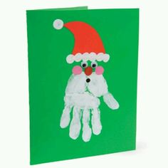 Simple Christmas DIY Crafts for Kids - christmas handprint art – Bing Images - Christmas Card Crafts, Preschool Christmas, Christmas Activities, Christmas Art, Christmas Projects, Preschool Crafts, Holiday Crafts, Simple Christmas, Father Christmas