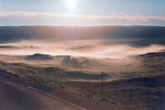 Sometimes the morning mists just fill the valleys.