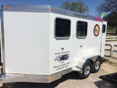 Winners Circle Trailer Sales booth at the Kentucky Horse Park in Lexington, KY Rolex Three Day Event 2015. Pictured here is our trailer sponsoring the 'Tough Enough To Wear Pink' Horse Show.  For more information contact Rob King at (765) 366-5866