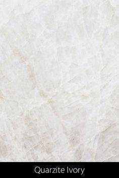 Durch den tektonischen Prozess der Kataklase erhält dieses Festgestein unzählige Brüche und die dadurch bedingten kristallinen Optik. Die etwas an Gletschereis erinnernde Asthetik wird durch die satinierte Oberfläche verstärkt. Im sonst weitgehend weisslichen Gestein treten kontrastreiche Bereiche  in den Farben Beige bis Braun auf. Quarzite Ivory ist rür Innen- und Aussentische geeignet Tile Floor, Ivory, Flooring, Texture, Design, Petrified Wood, Natural Stones, Brown, Colors