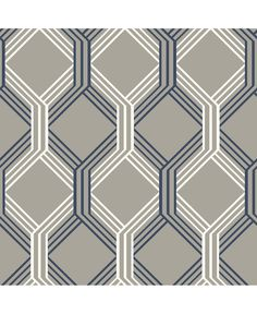 Linkage Navy Trellis Wallpaper Brewster Wallcoverings Blues Grays Taupes Whites Geometric Wallpaper Trellis Wallpaper, Coated Heavyweight Paper, Easy to clean , Easy to wash, Easy to strip Navy Wallpaper, Trellis Wallpaper, Luxury Wallpaper, Wallpaper Samples, Print Wallpaper, Wallpaper Roll, Geometric Wallpaper, Modern Wallpaper, Wallpaper Online