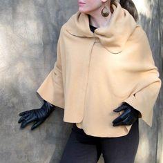 Cape Poncho Jacket in cozy antipill fleece  by ModernEraDesign, $38.00