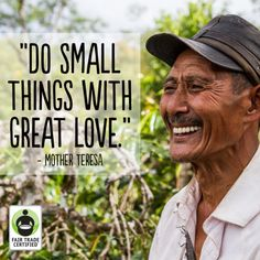 Imagine a world where love is behind every dollar. Make your purchases matter. #FairTrade #quote #inspiration