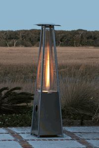 Fire Sense Stainless Steel Pyramid Flame Propane Patio Heater