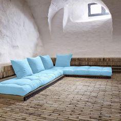 Sofá cama Chico azul celeste