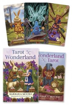 Tarot in Wonderland by Barbara Moore & Eugene Smith. Welcome to Wonderland, where the air sparkles with revelation and wisdom is carried on the breeze. Tarot in Wonderland is a deck where tarot and the characters from Alice's adventures meet! Best Tarot Decks, Tarot Card Decks, Barbara Moore, Tarot Cards For Beginners, Eugene Smith, Tarot Card Meanings, Tarot Readers, Major Arcana, Illustrations