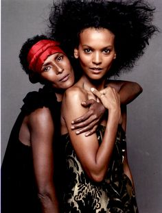Waris Dirie (Somalia) And Liya Kebede (Ethiopia) Liya Kebede, Natalia Vodianova, Laetitia Casta, Lily Aldridge, Claudia Schiffer, Cindy Crawford, Heidi Klum, Black Is Beautiful, Beautiful People