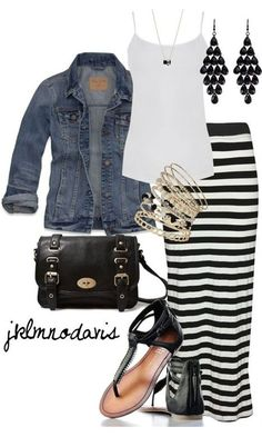 Cute and casual! Love the skirt!!!!