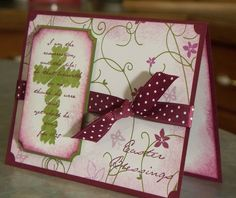 Handmade Easter Card with Scripture or Sympathy, Stampin Up RENEWED FAITH. $4.50, via Etsy.