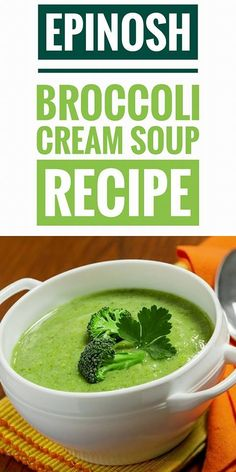 Do you want a light and tasty cream? One of the most nutrients and vitamins has is the broccoli cream soup.