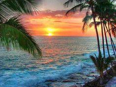 - Big Island - Hawaii - News Beautiful Sunset, Beautiful Beaches, Beautiful World, Need A Vacation, Dream Vacations, Big Island Hawaii, Beach Scenes, Strand, Places To See