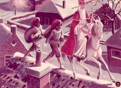Sinterklaas, Pieten op het dak...