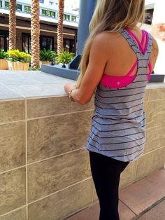 Lululemon Addict: Bumble Berry Wunder Under Crops are in Canada, Inkwell/Heathered Slate Cool Racerback, More Britt's Picks, and Summer Pants Outfits, Sport Outfits, Cute Outfits, Lulu Love, Workout Wear, Workout Style, Workout Outfits, Fitness Fashion, Fitness Style
