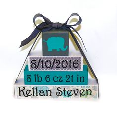 Personalized Baby Name Blocks New Baby Gift Elephant Baby | Etsy#baby #blocks #elephant #etsy #gift #personalized Elephant Nursery Girl, Elephant Baby, Nursery Décor, Custom Baby Gifts, New Baby Gifts, Personalized Baby, Baby Name Blocks, Modern Nursery Decor, Teal And Grey