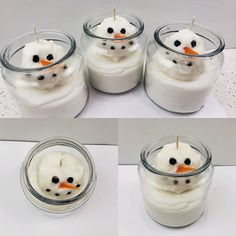 Melting Snowman Candle #naturesgarden #candlemaking #fragrancefun