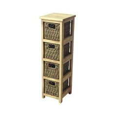 23.99 Slim 4-Drawer Storage Unit - Seagrass at Homebase -- Be inspired and make your house a home. Buy now.