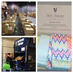 We are proud to use 100% Recycled Boxes | Hen House Linens #goinggreener #earthfriendly