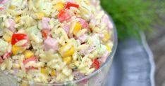 Bardzo lubię makaronowe sałatki. Są nie tylko smaczne, ale też sycące. Dzisiejsza propozycja to sałatka z drobnymmakaronem w kszt... Quinoa Salat, Tortellini, Pasta Salad, Potato Salad, Healthy Recipes, Healthy Food, Potatoes, Vegetables, Ethnic Recipes