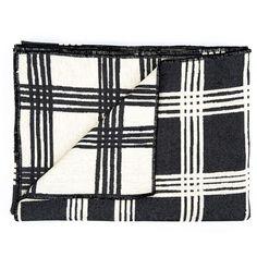 Tori Murphy black & linen throw - £250